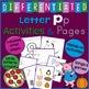 Letter P Alphabet Unit Plan