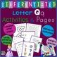 Letter Q Alphabet Unit Plan