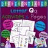 Letter Q Alphabet Unit Plan