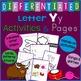 Letter Y Alphabet Unit Plan