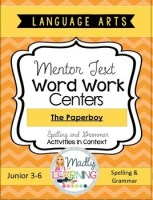 Language Arts - Mentor Text Word Work Centers Shortcut Image The Paperboy