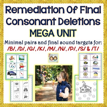 Phonological Disorders: Remediation Of Final Consonant Del