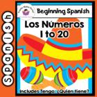 Spanish Flashcards Numbers 1-20 including Tengo,  Quién tiene