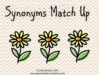 Synonym Match Up {freebie}