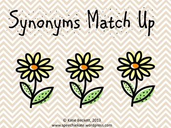 Synonym Match Up {freebie}