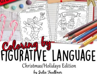 Christmas and Winter Coloring by Figurative Language Activ
