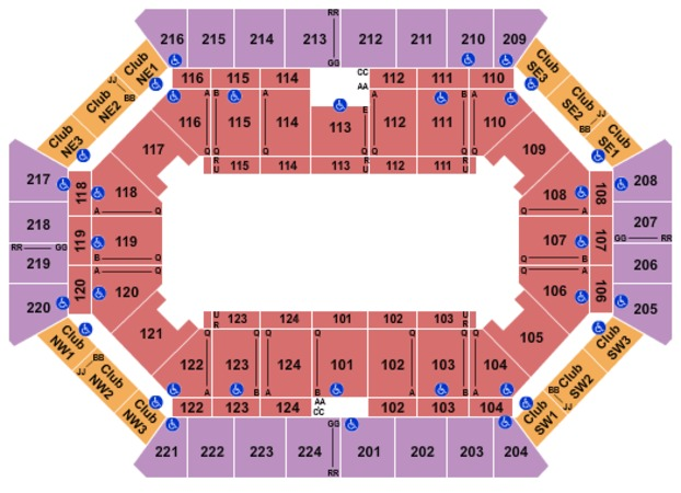 Donald L Tucker Civic Center Seating Chart