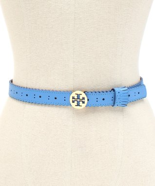 Blue Spectator Leather Belt