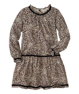 Leopard Ruffle Drop-Waist Dress - Infant, Toddler & Girls