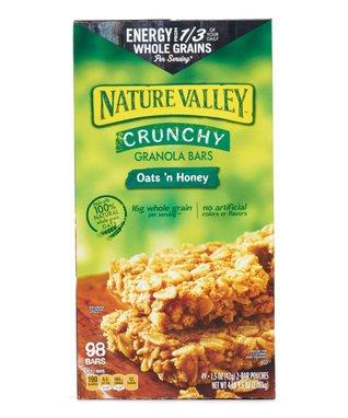 Nature Valley Oats 'n Honey Crunchy Granola Bar 98-Ct. Set
