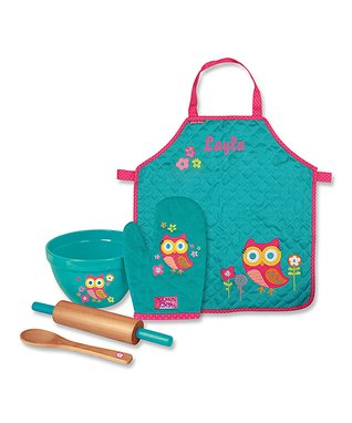 Owl Personalized Apron & Cooking Tools Set