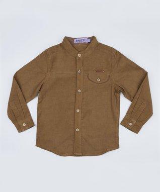 Tan Corduroy Button-Up - Toddler & Boys