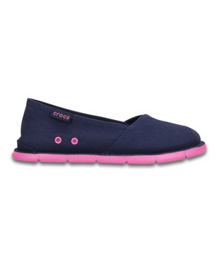 Nautical Navy & Party Pink Cabo Slip-On Shoe - Kids