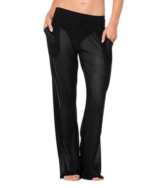 Black Semi-Sheer Mesh Pants