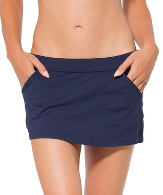 Navy Pouch Pocket Cover-Up Skirt