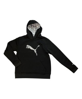 Black Big Cat Hoodie - Boys