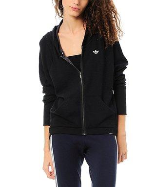 Black Premium Essentials Zip-Up Hoodie