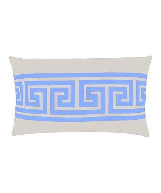 Light Blue Rectangle Tamarack Pillow