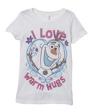 White 'I Love Warm Hugs' Tee - Girls