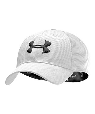 White Blitzing Stretch Fit Baseball Cap