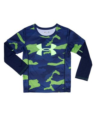Hyper Green Future Camo Slider Layered Tee - Infant