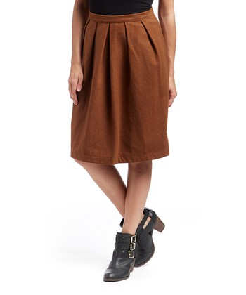 Camel Wool-Blend Brigette Skirt