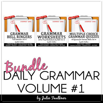 Daily Grammar Program, Full Semester, Bell Ringers, Worksheets
