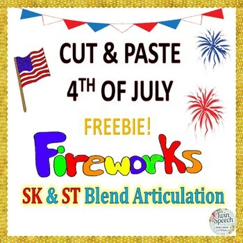 FREEBIE! QUICK PRINT CUT & PASTE 4TH OF JULY ARTICULATION
