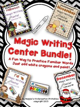 Magic Writing Center Bundle with Fall, October, November,