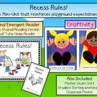 Recess Rules! Emergent Reader & Craftivity Pack