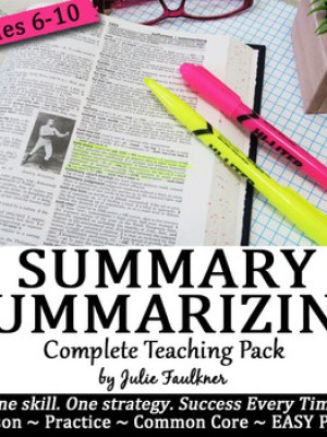 How to Write a Summary SWBST for Fiction, Informational &