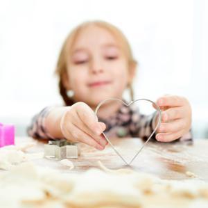 cookie cutters+kids baking
