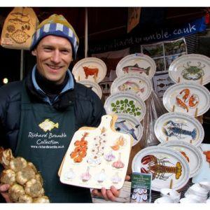 Richard Bramble seafood pattern dishes