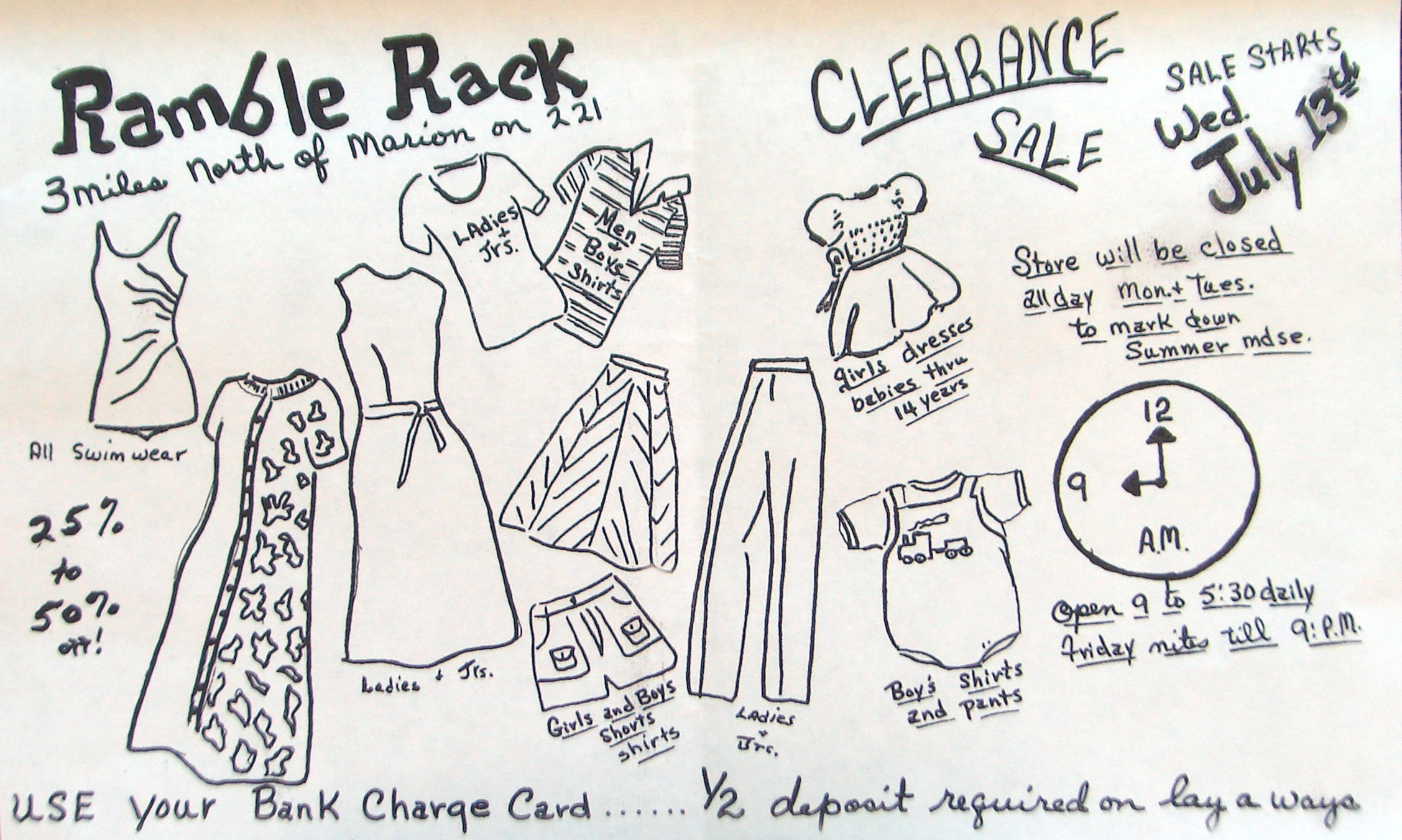 In the early days, everything at The Ramble Rack was do-it-yourself, even the ads.