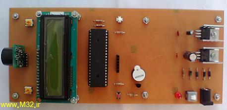 فاصله سنج اولتراسونیک با LCD
