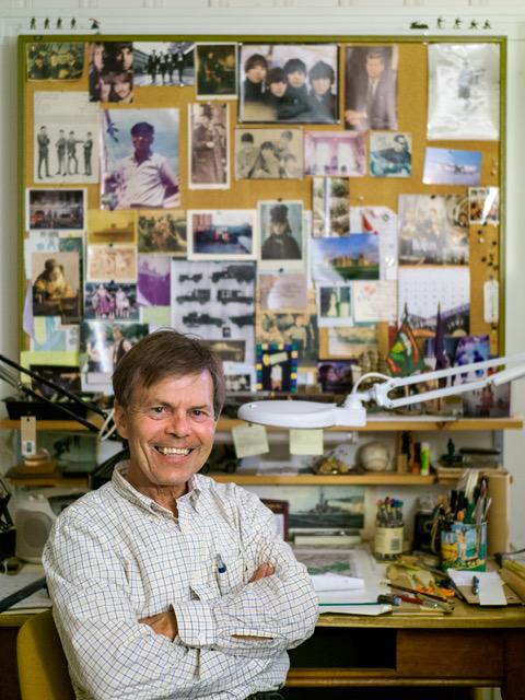 Earl B. McElfresh at his map desk.