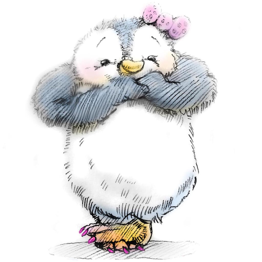 Paulina the Penguin Portrait
