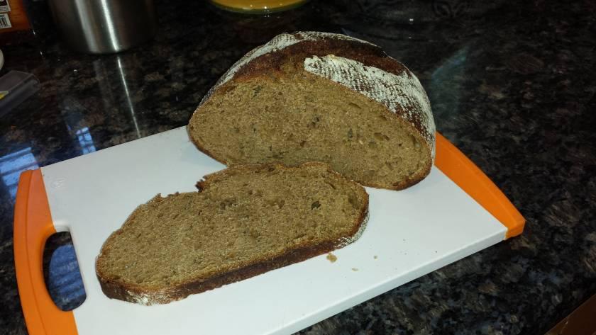 sourdough rye sliced