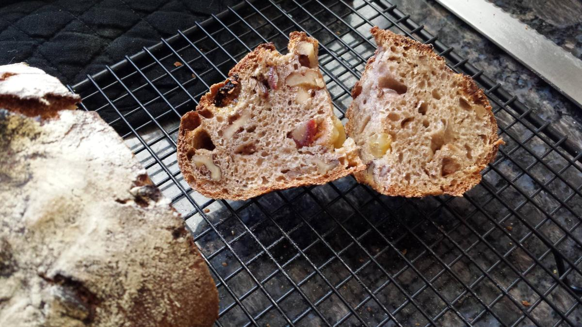 Sourdough Adventures: Whole Wheat Fruit and Nut Bread