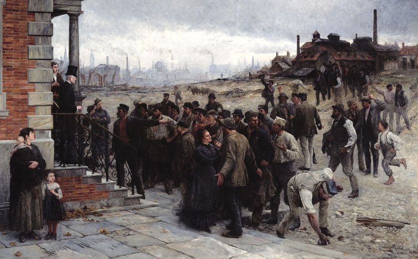 The painting Der Streik by Robert von Koehler