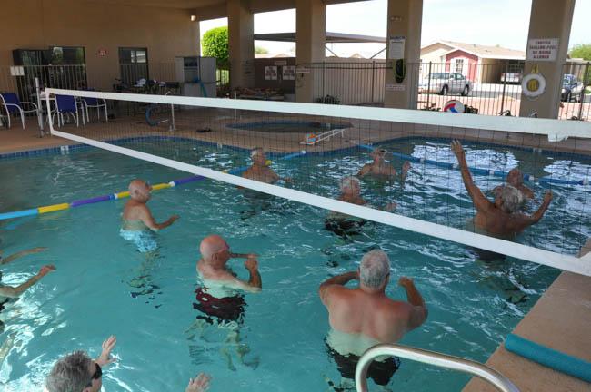 Water Volley Ball, Mesa Resort Living