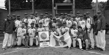 Redmen baseball hoist 2012 CIBA National Championship