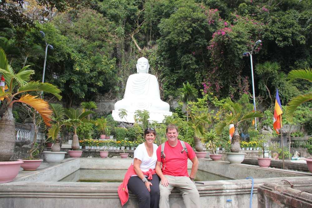 Martine et Michel en Asie lors de leur voyage