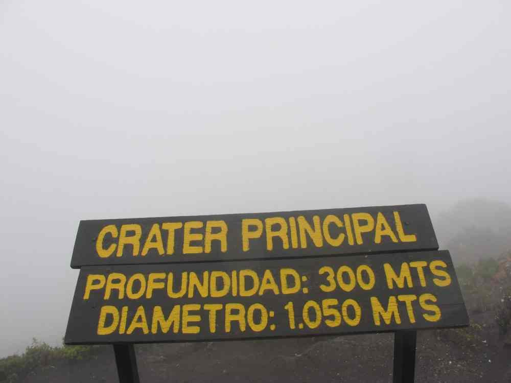 Volcan Irazu au Costa Rica