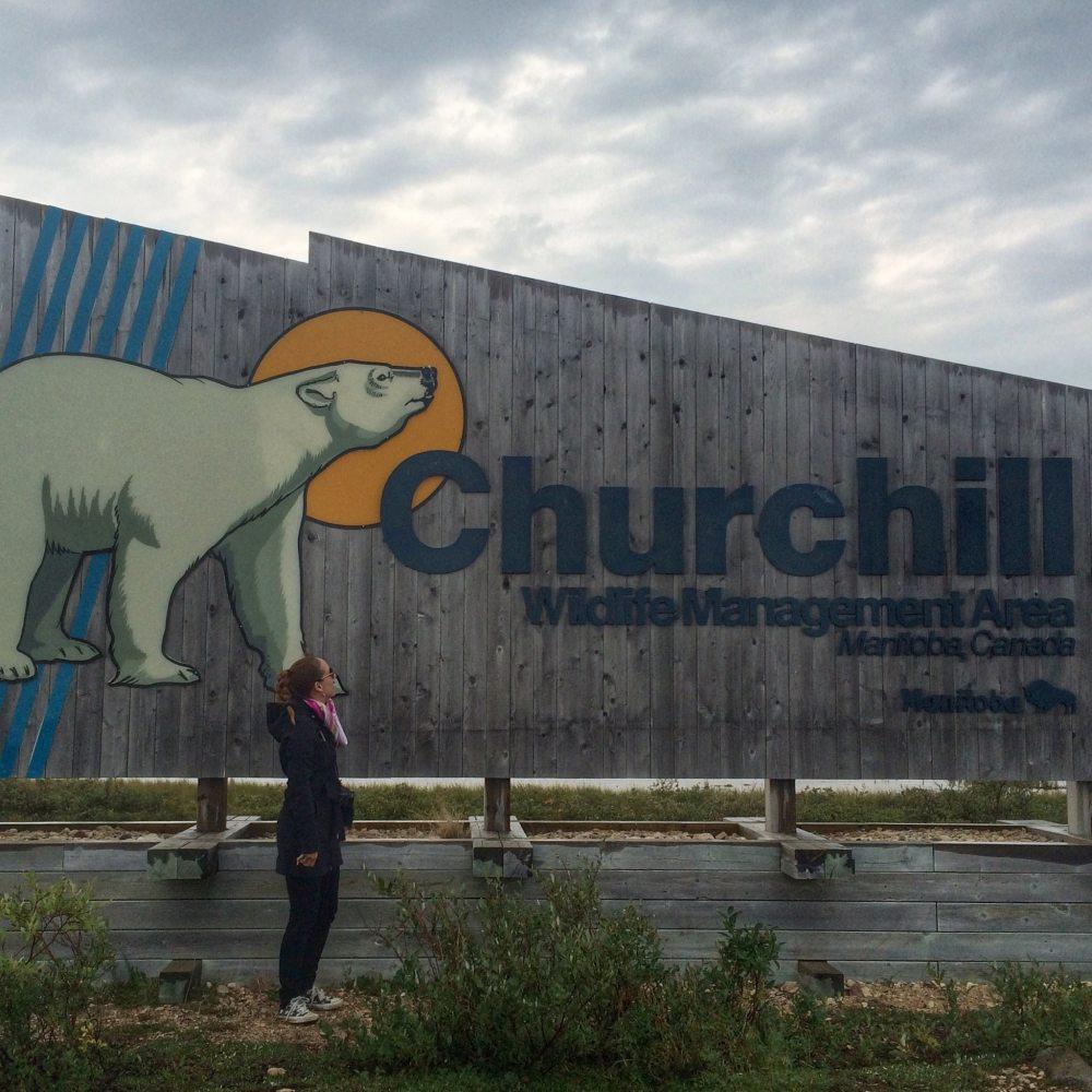 Annonce de l'entrée à Churchill Manitoba Canada