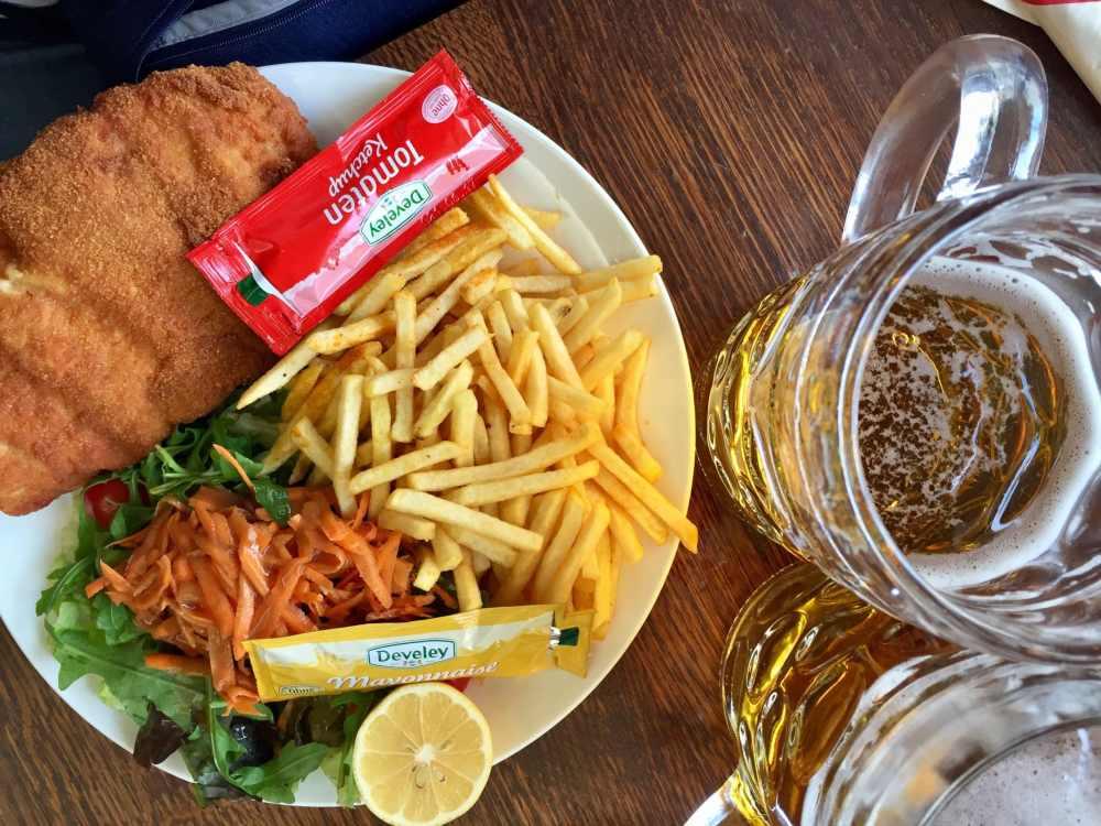 Schnitzel et bière Allemagne
