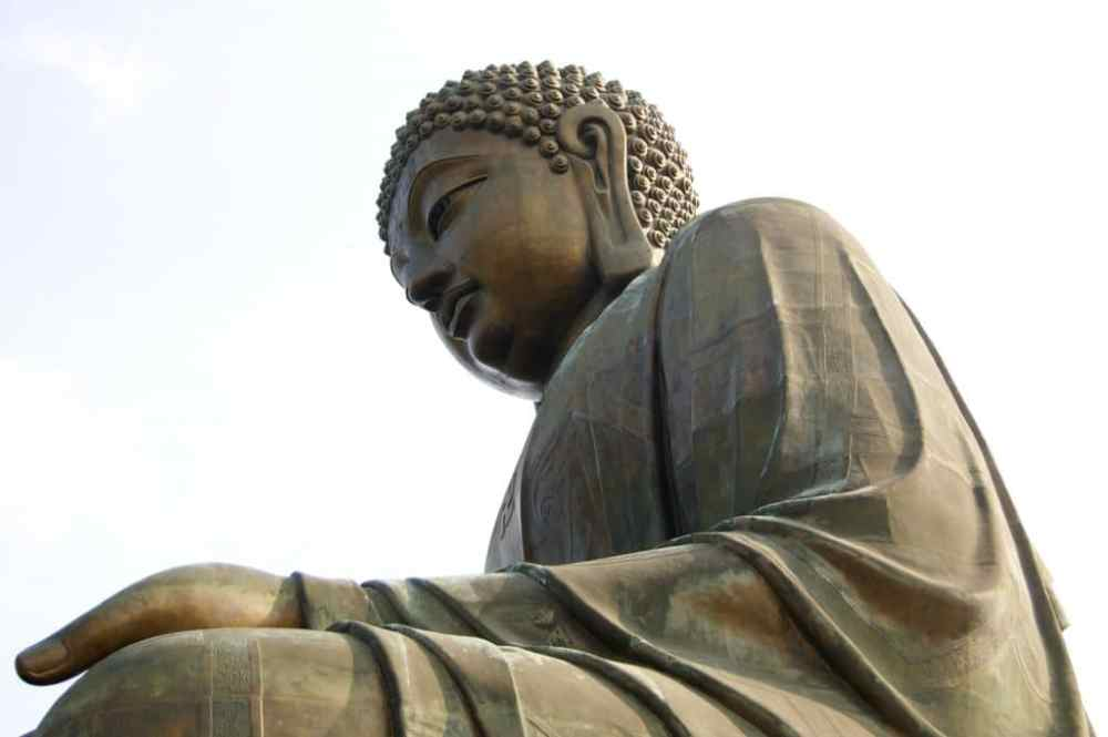 Le Buddha de Lantau près de Hong Kong