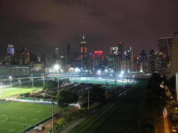 Vue sur le centre-ville de Hong Kong depuis Happy Valley