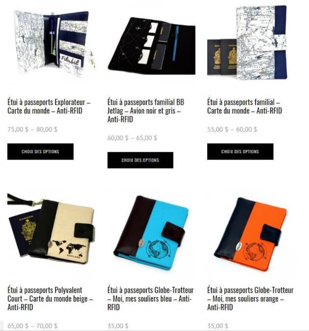 Étuis passeport Filabil Cadeaux pour voyageurs