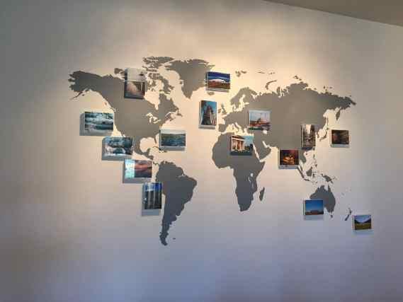 Carte du monde appliqué Cadeaux pour voyageurs